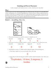 Limiting And Excess Reactants Worksheet Answers by Limiting And Excess Reactants S 2 Limiting And Excess