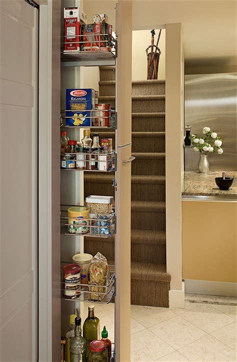 Pull out pantry in galley kitchen eclectic kitchen seattle by christine suzuki asid