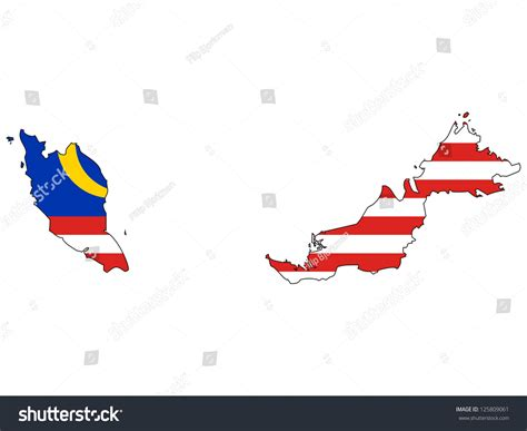 malaysia map vector free malaysia vector map with the flag inside 125809061