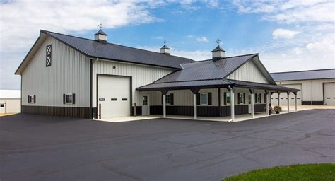 Home Shop Buildings by Morton Buildings Farm Shop In Chana Illinois House