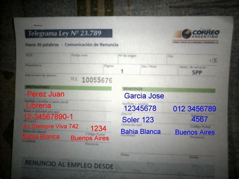 telegrama de renuncia correo argentino taringa telegrama de renuncia correo argentino info taringa