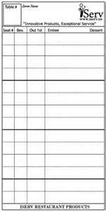 Waitress Order Pad Template by 17 Best Images About Service Professional Tools Best