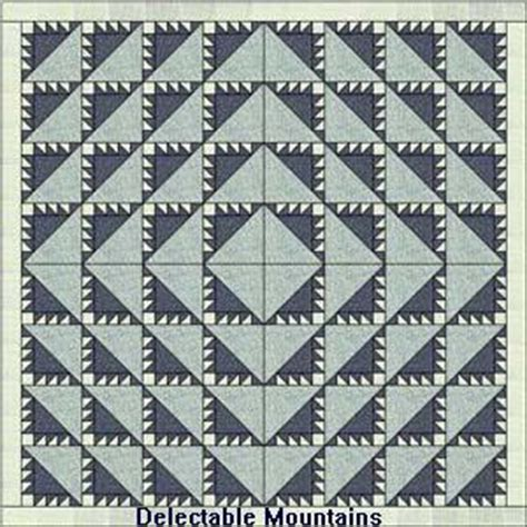 pattern and history delectable mountains quilt patterns and history
