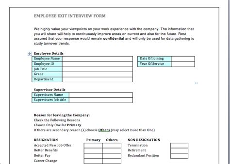 employee exit form employee exit clearance form sle hr goodstuff