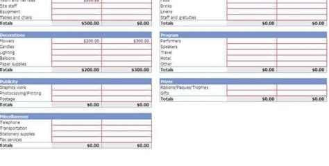 spreadsheet template budget spreadsheet templates for