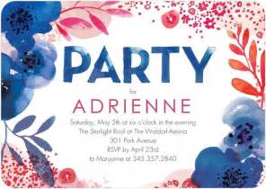 lush bouquet birthday party invitations in capri