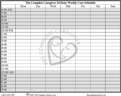 24 hours schedule template download free premium