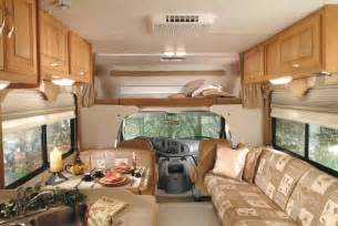 Motor Home Interior by Interior Picture Of The Front Of A Luxury Class C