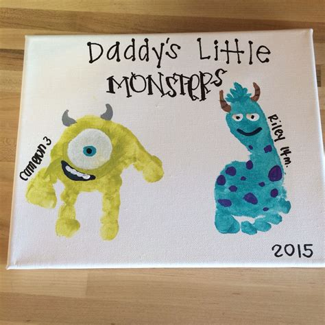 fathers day crafts print s day gift ideas monsters canvases