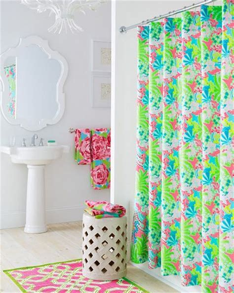 garnet hill lilly pulitzer shower curtain lilly pulitzer bathroom from garnet hill home sweet