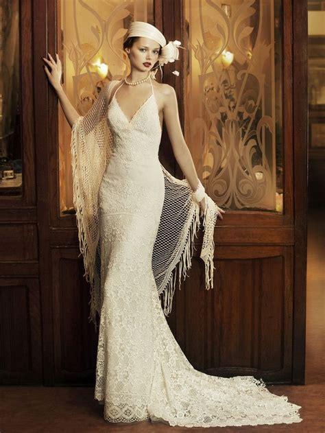 brautkleider 30er stil 1930s style modern wedding dress worn with hat and