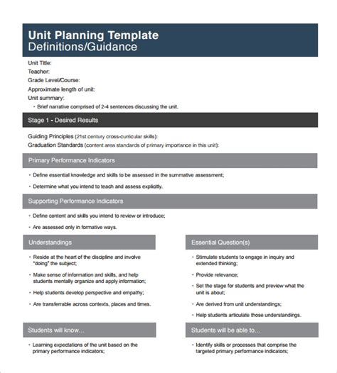 12 Sle Unit Plan Templates To Download For Free Sle Templates Unit Plan Template