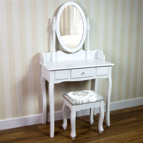 white makeup vanity desk nishano dressing stool mirror bedroom makeup