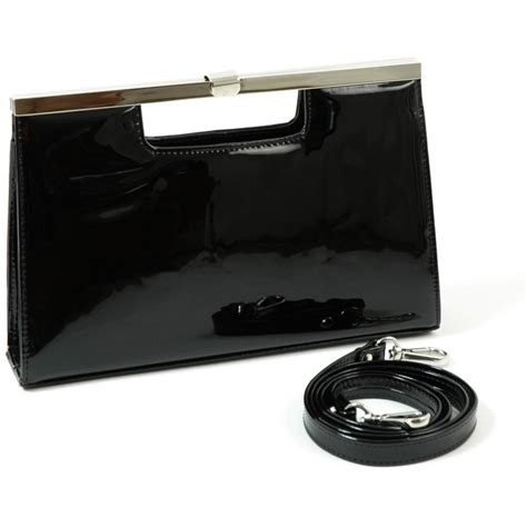 black patent clutch bag peter kaiser wye black patent leather clutch bag