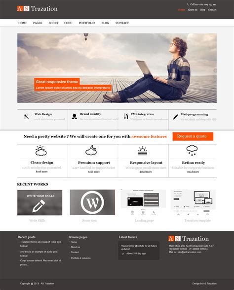 18 Website Templates Design Graphic Images Graphic Design Portfolio Website Templates Graphic Design Web Templates