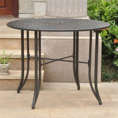 Antique Black Dining Table Patio Dining Table In Antique Black 3454 Tbl Ant Bk