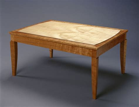 Maple Coffee Table Handmade Cherry With Curly Maple Coffee Table By Hugh