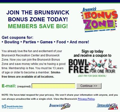 Brunswick Coupons Printable