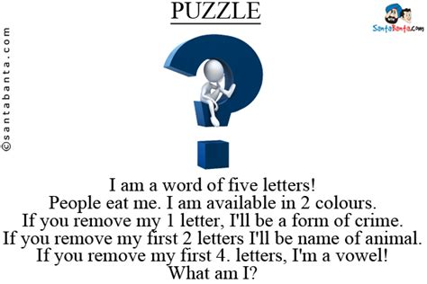 5 Letter Words You Can Eat puzzles and riddles sms