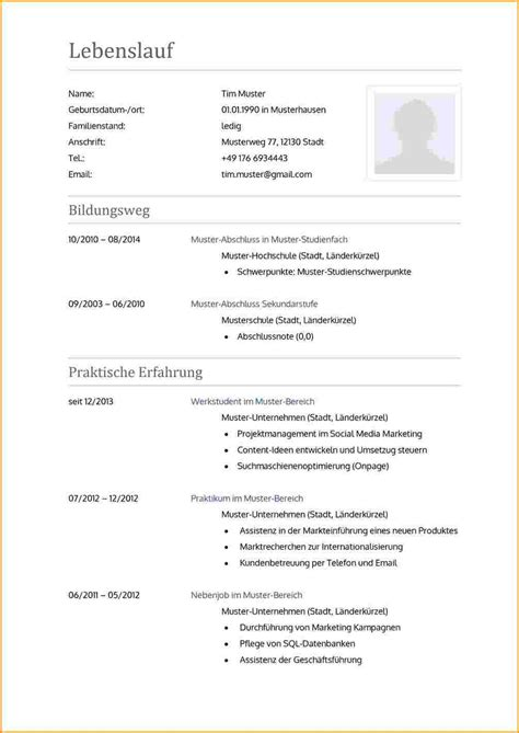 9 muster lebenslauf 2016 reimbursement format