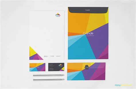 business card letterhead envelope mockup photorealistic corporate identity psd mockup set zippypixels
