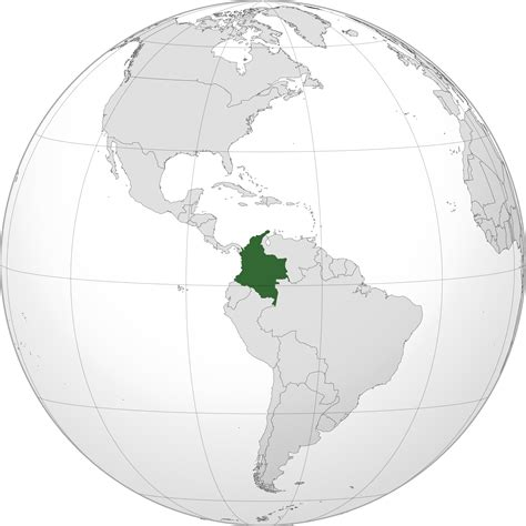 colombia on a world map location of the colombia in the world map