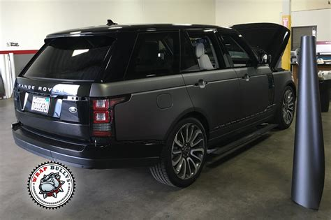 wrapped range rover autobiography matte gray range rover supercharged autobiography wrap