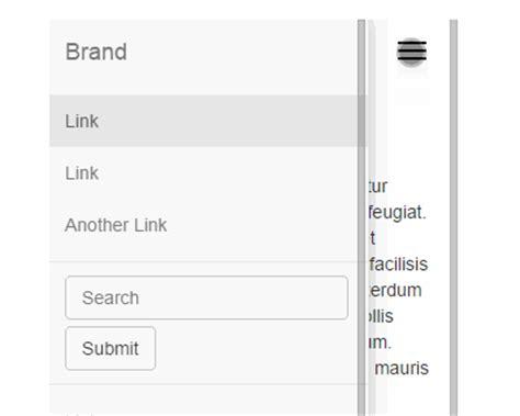 Bootstrap Offcanvas Layout Pattern | bootstrap offcanvas menu uicorner user interface design