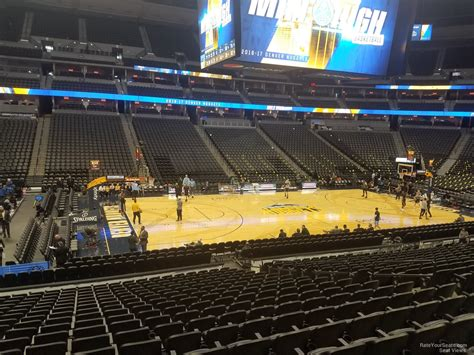 section 4 basketball pepsi center section 128 denver nuggets rateyourseats com