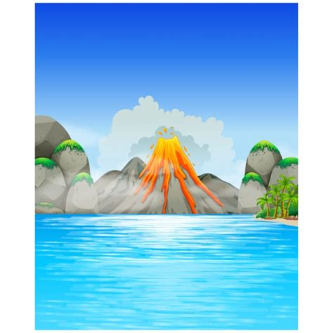 volcano background volcano background design vector free
