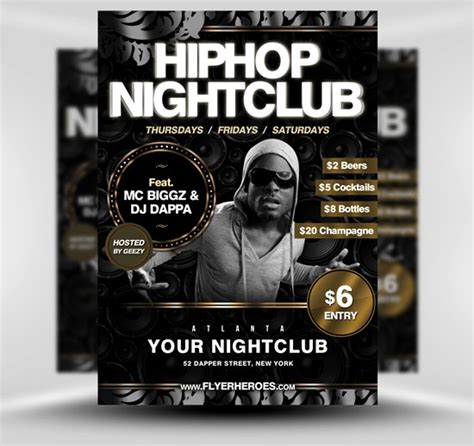 Free Hip Hop Flyer Templates 60 free psd poster and flyer templates updated