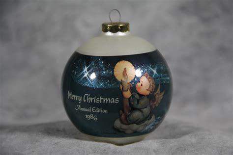value of 1986 hummel merry christmas goebel glass ornament