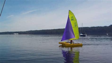 zeta trimaran zeta trimaran sailing with screecher in a flat calm youtube