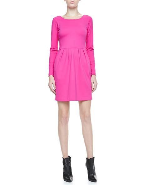 Longc Pinj Small amanda uprichard hilary sleeve knit dress pink small