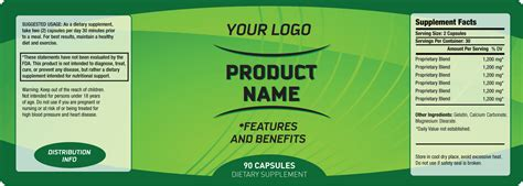 Supplement Label Template Private Label Supplement Labeling Services Custom White Label Supplements Vitamins