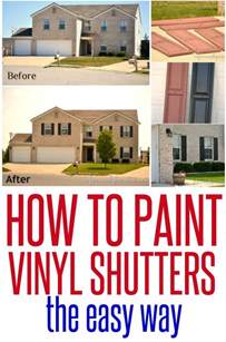 how to paint your house how to paint vinyl shutters infarrantly creative
