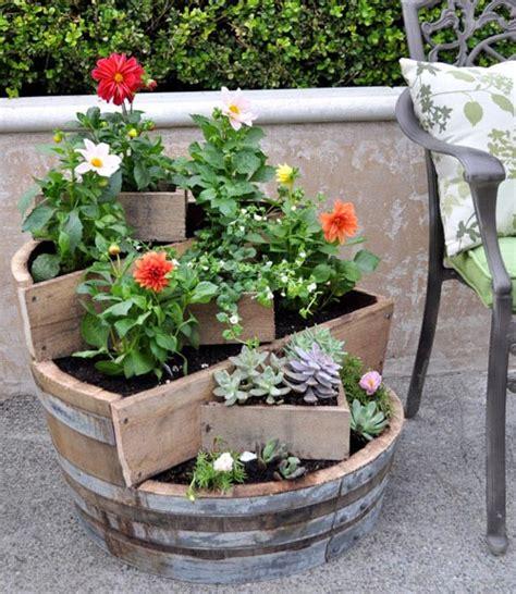 diy project recycled barrel planter design sponge