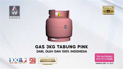 Celengan Tabung Gas 3kg gas 3kg tabung pink arteri artwork advertising animation 2d 3d stmm mmtc yogyakarta