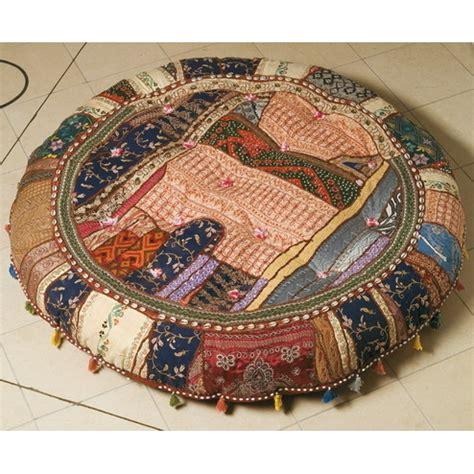 cuscini indiani cuscino etnico patchwork rotondo pouff etnici offerta