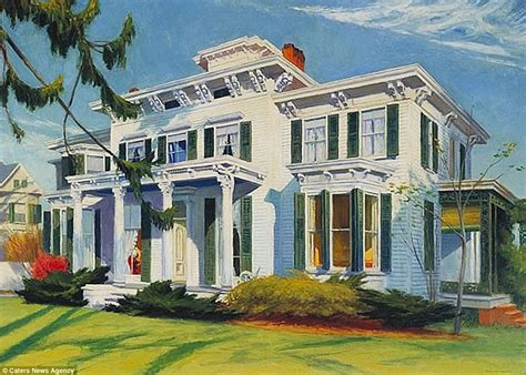 painting of houses house that inspired edward hopper painting pretty penny