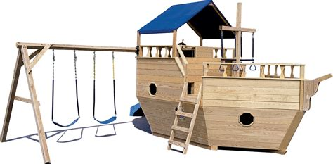 wooden boat swing set boat playgrounds north country shedsnorth country sheds
