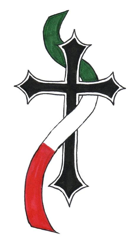 italian cross tattoos designs by brent craven