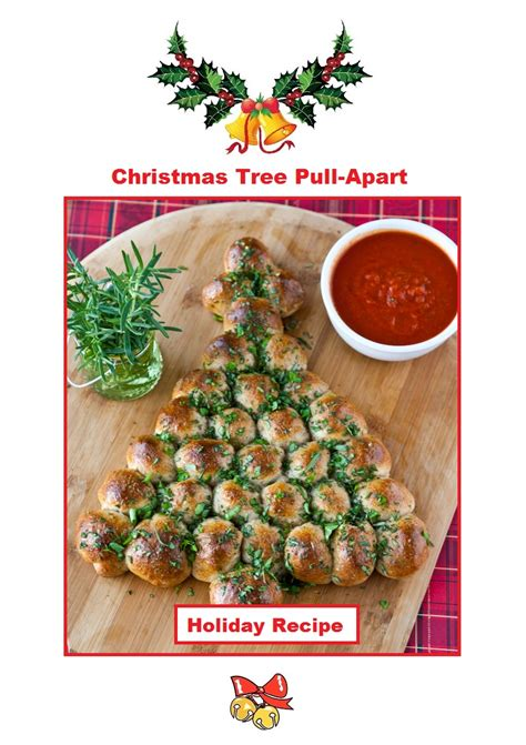 christmas tree appetizer pillsbury tree pull apart justeatveggies
