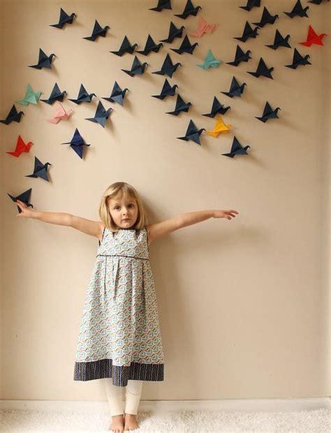 ide dekorasi dinding murmer  kertas origami prelo