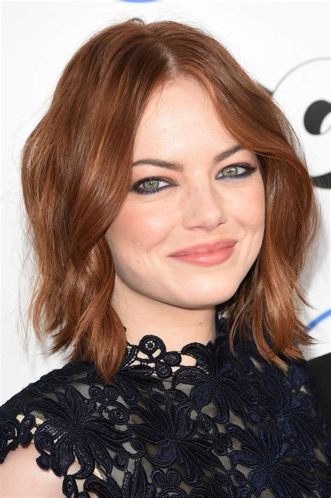 emma stone hairstyle 2015 celebrity hairstyles 2015 emma stone 2015 film independent spirit awards in santa