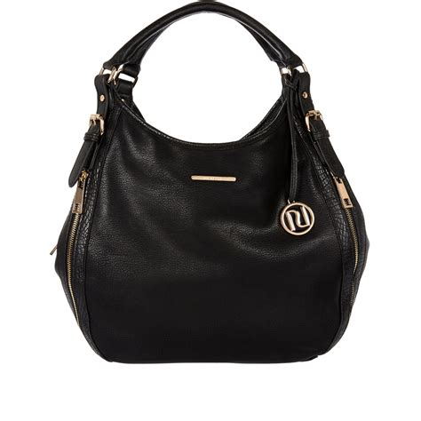 Slouch Bag by River Island Black Zip Side Slouch Bag In Black Lyst