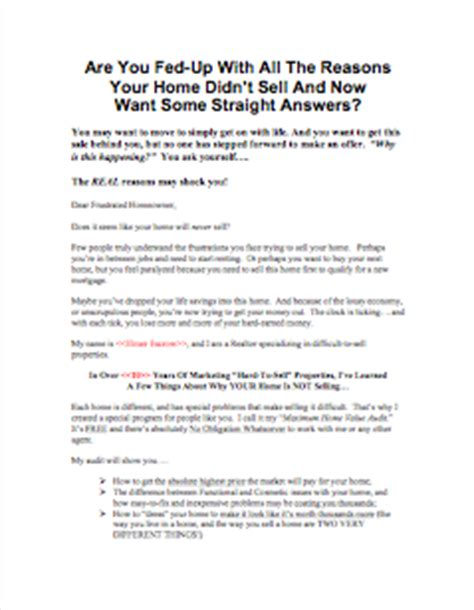 Offer Letter Expiration A Secret Weapon To Farm For Expired Listings Real Estate