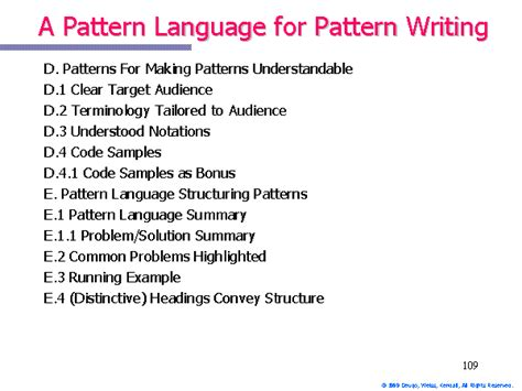 pattern language exles a pattern language for pattern writing