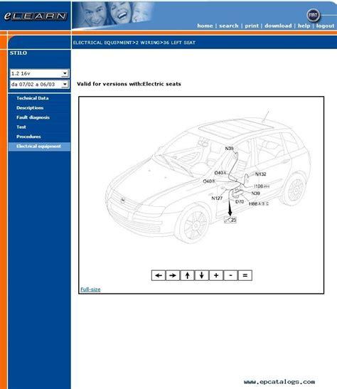 Fiat Stilo Service Information 2001 2007 Repair Manual