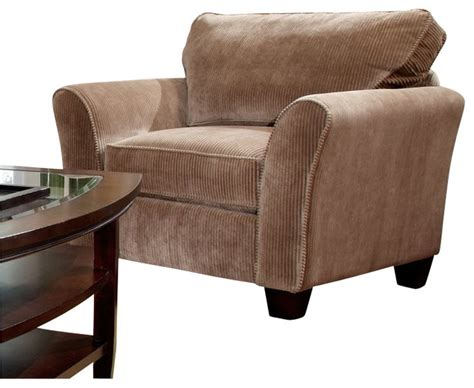 Microfiber Accent Chair Broyhill Maddie Microfiber Mocha Chair With Affinity Wood Finish Modern Armchairs And Accent